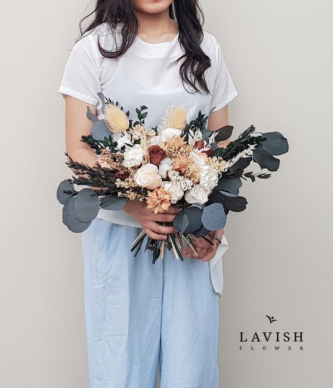 Dried Wedding Bouquet Premium-Luxury Large by Lavish Flower - 005