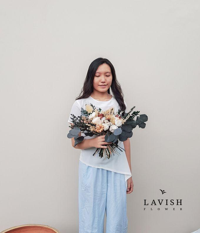 Dried Wedding Bouquet Premium-Luxury Large by Lavish Flower - 001
