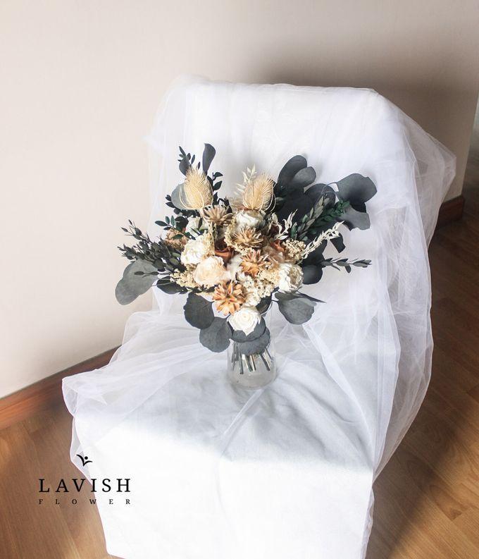 Dried Wedding Bouquet Premium-Luxury Large by Lavish Flower - 002