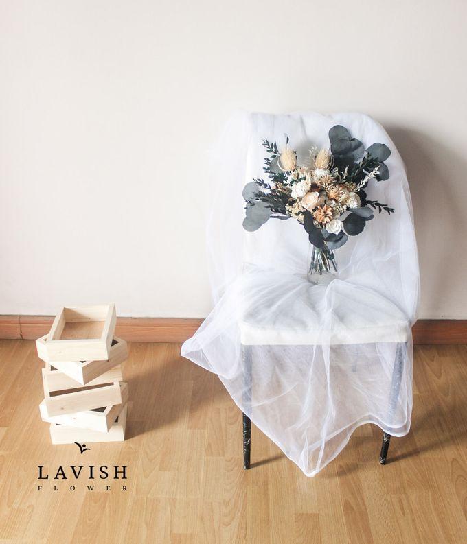 Dried Wedding Bouquet Premium-Luxury Large by Lavish Flower - 003