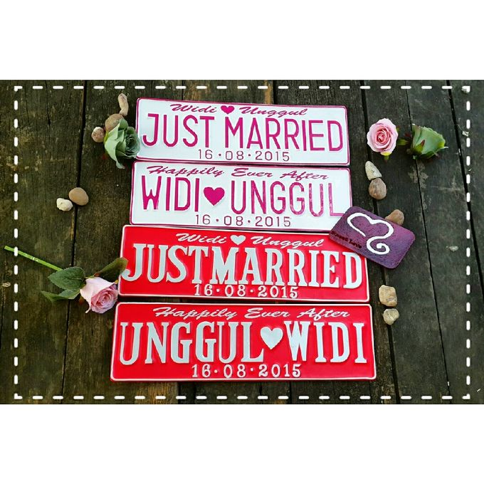 Wedding Car Plate by Sweetlovecollection - 037