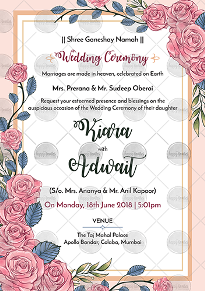 FLORAL THEME WEDDING INVITATION VIDEO  SAVE THE DATE INVITES by Happy Invites - 001