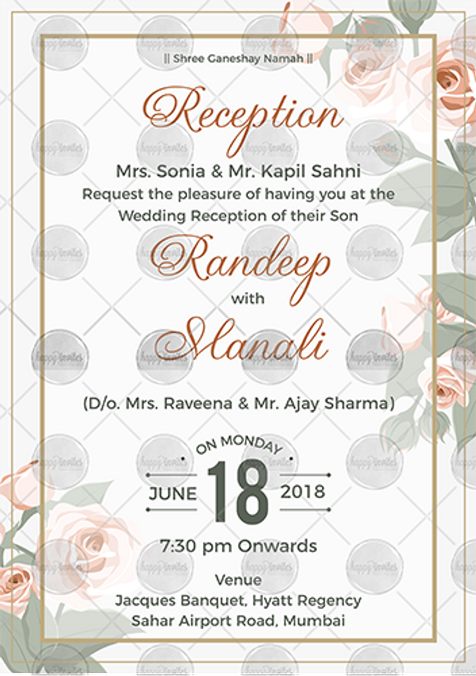 FLORAL THEME WEDDING INVITATION VIDEO  SAVE THE DATE INVITES by Happy Invites - 002