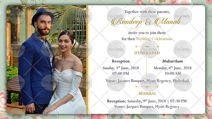 FLORAL THEME WEDDING INVITATION VIDEO  SAVE THE DATE INVITES by Happy Invites - 003