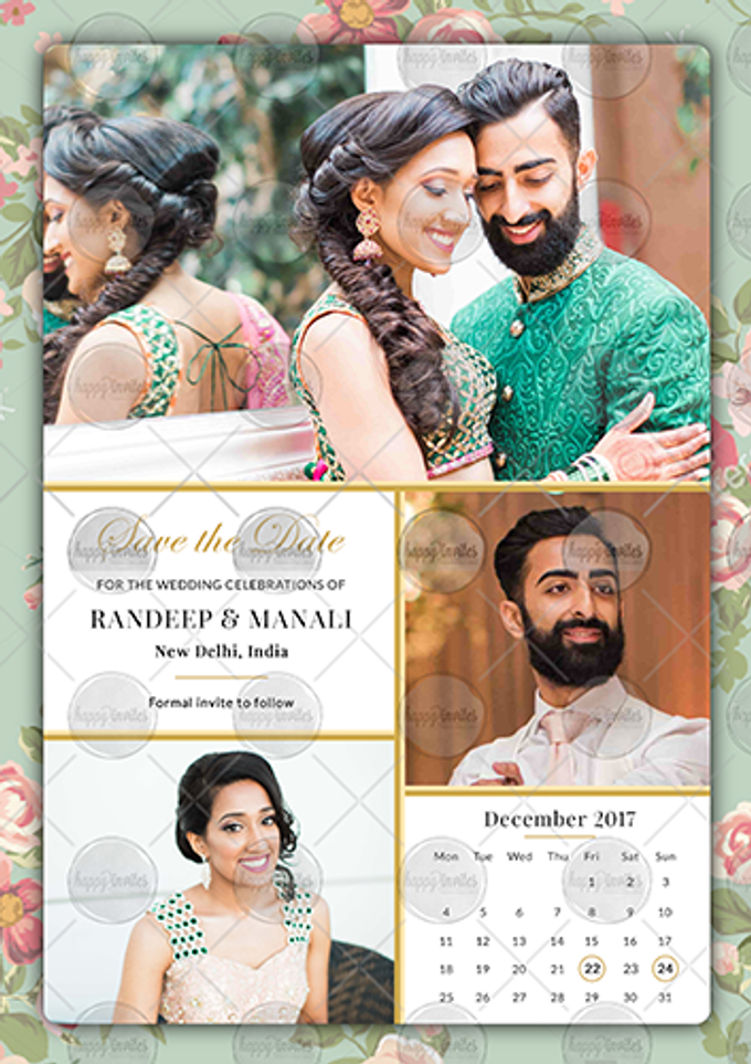 FLORAL THEME WEDDING INVITATION VIDEO  SAVE THE DATE INVITES by Happy Invites - 004