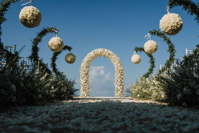 Elegant light blue beach wedding at Sofitel Bali by Silverdust Decoration - 005