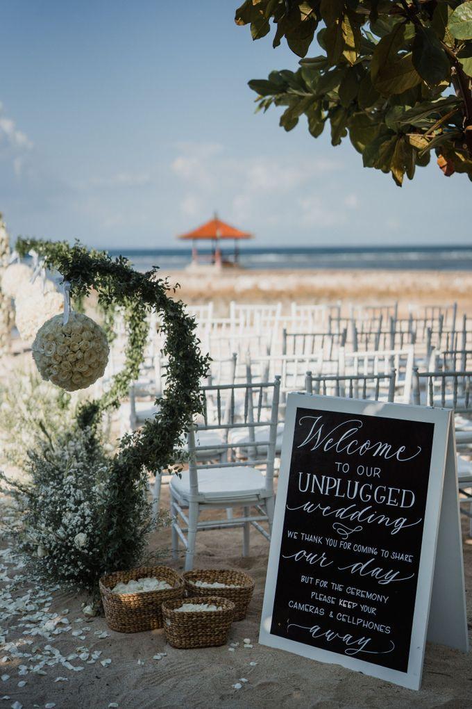 Elegant light blue beach wedding at Sofitel Bali by Silverdust Decoration - 006