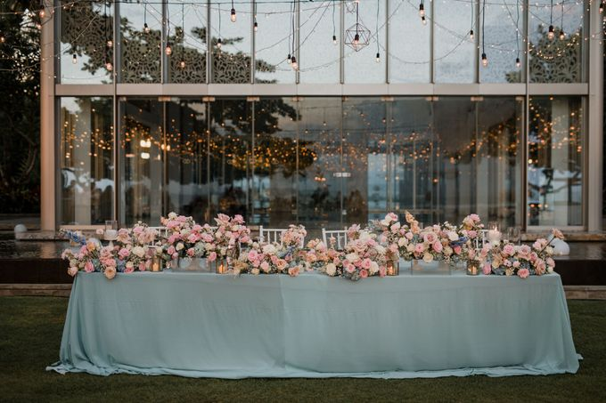 Elegant light blue beach wedding at Sofitel Bali by Silverdust Decoration - 013