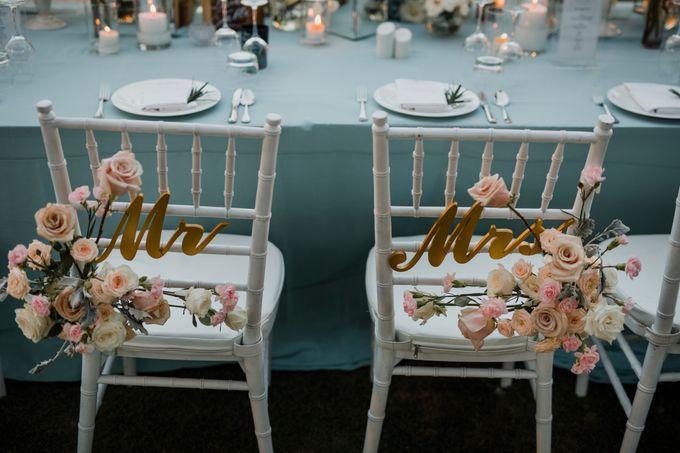 Elegant light blue beach wedding at Sofitel Bali by Silverdust Decoration - 014