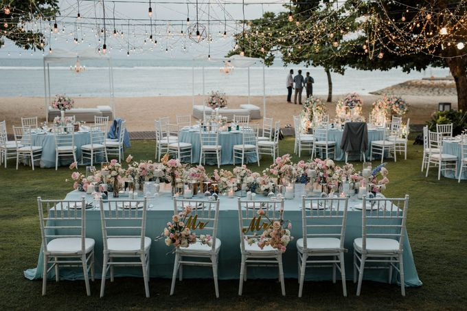 Elegant light blue beach wedding at Sofitel Bali by Silverdust Decoration - 015