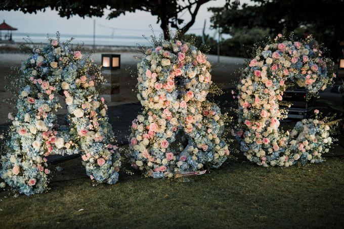 Elegant light blue beach wedding at Sofitel Bali by Silverdust Decoration - 018