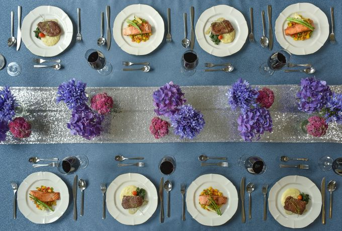 Sparkly Blue Theme by Mesclun Events Catering + Styling  - 002