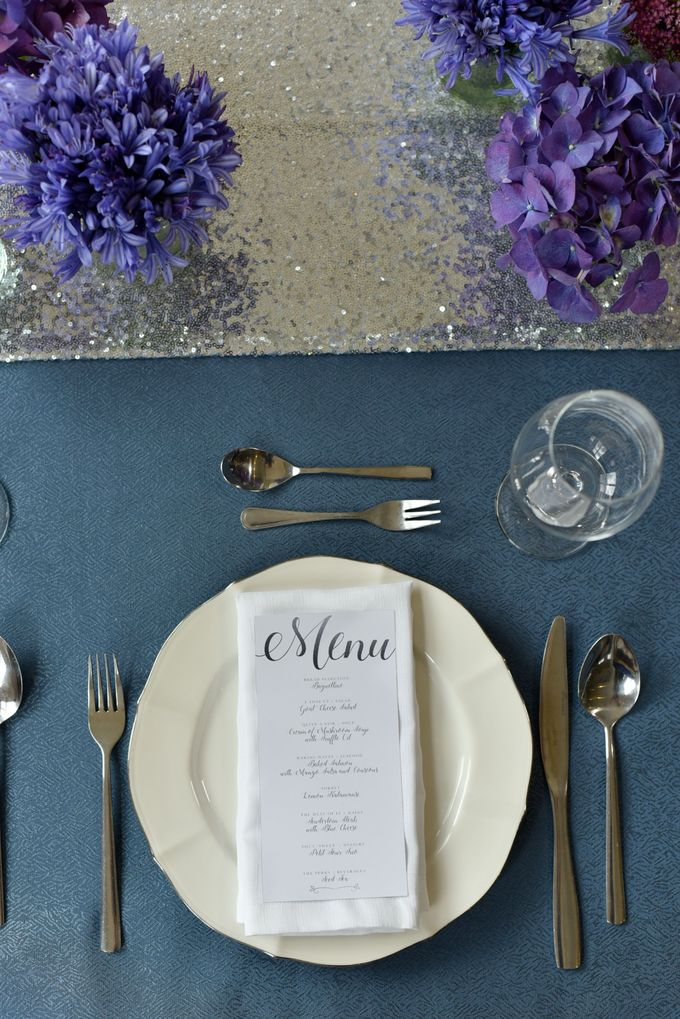 Sparkly Blue Theme by Mesclun Events Catering + Styling  - 003
