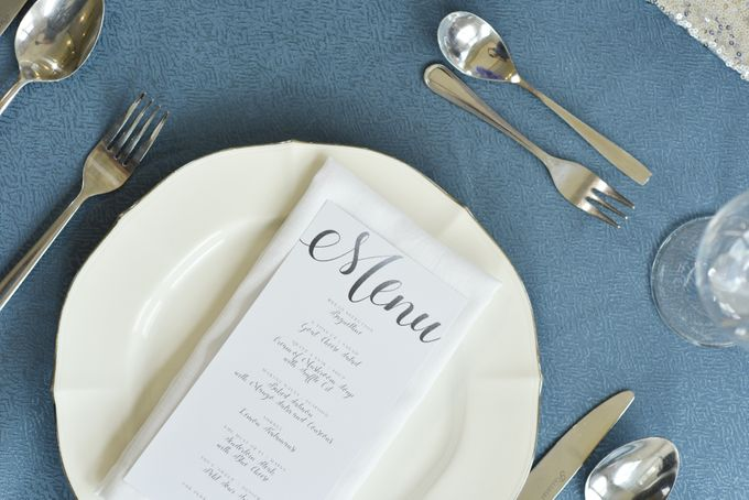 Sparkly Blue Theme by Mesclun Events Catering + Styling  - 008