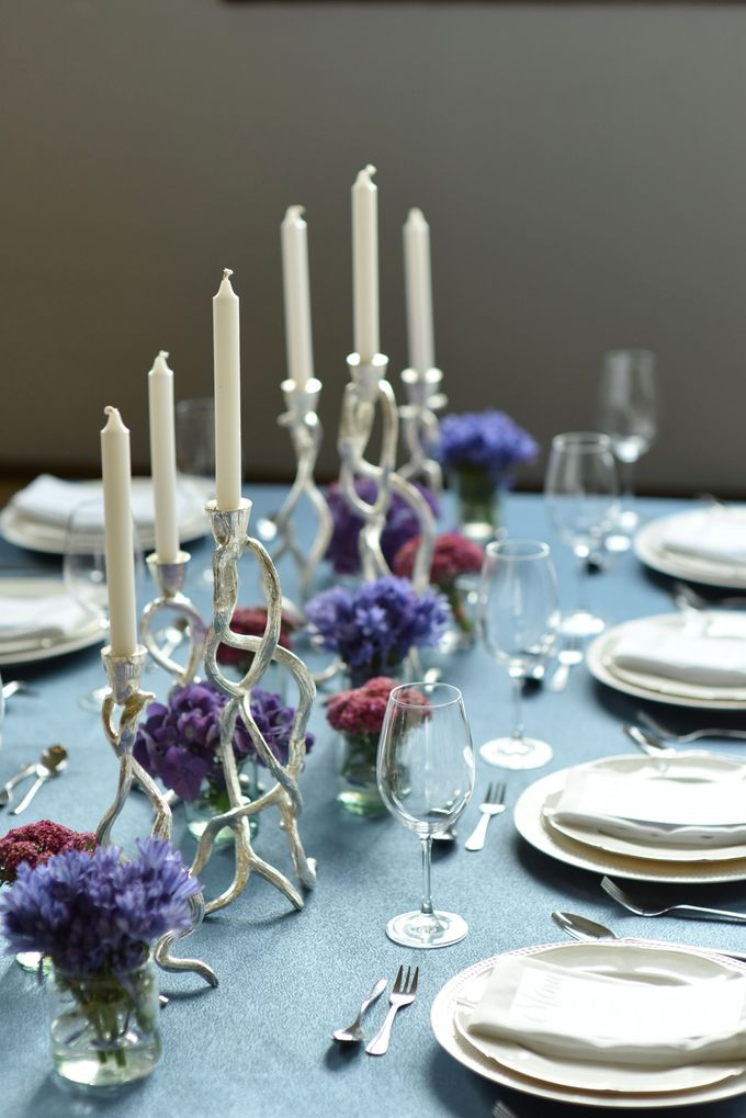 Sparkly Blue Theme by Mesclun Events Catering + Styling  - 005