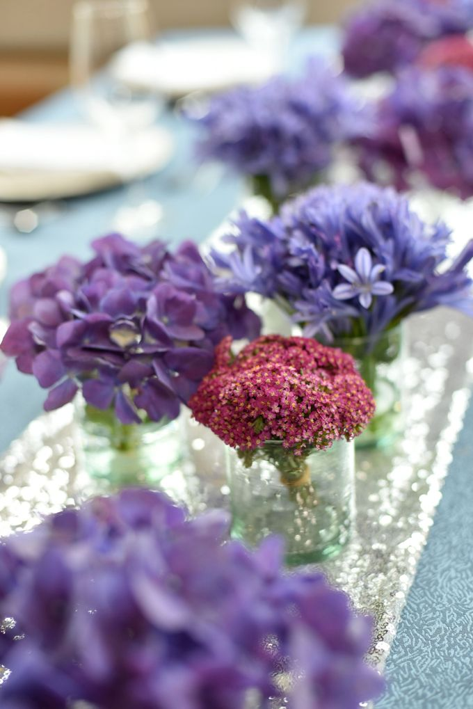 Sparkly Blue Theme by Mesclun Events Catering + Styling  - 006