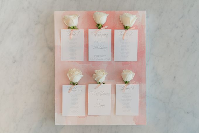 A blooming blush pink Love Story by Wedding Boutique Phuket - 001