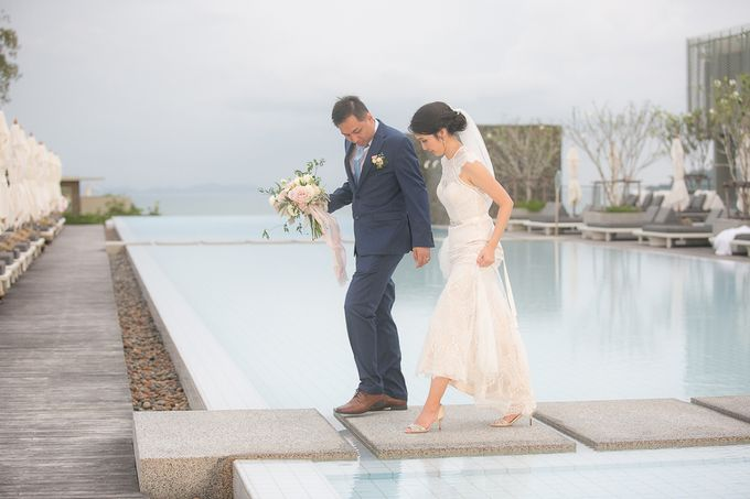 JEEYOUNG & KENN  A blooming blush pink Love Story by Wedding Boutique Phuket - 045