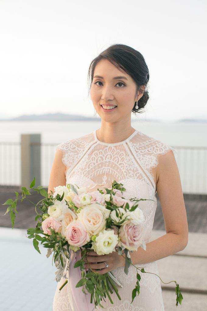 A blooming blush pink Love Story by Wedding Boutique Phuket - 026