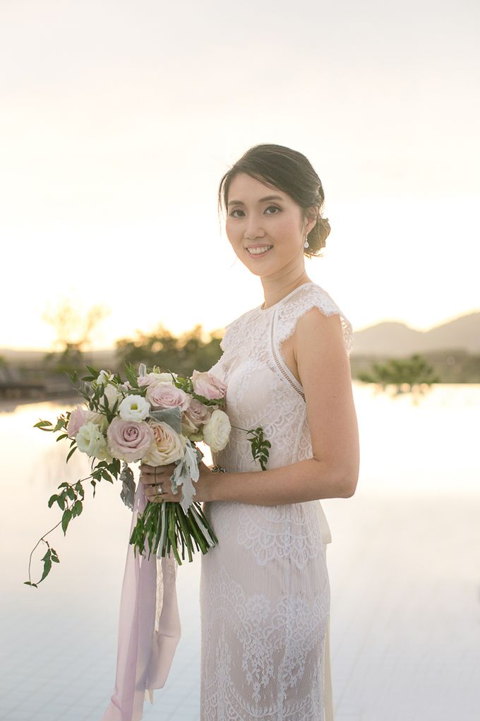 JEEYOUNG & KENN  A blooming blush pink Love Story by Wedding Boutique Phuket - 048