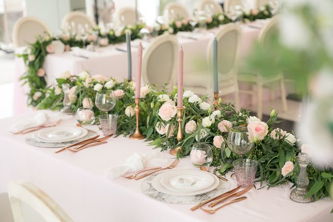 A blooming blush pink Love Story by Wedding Boutique Phuket - 028