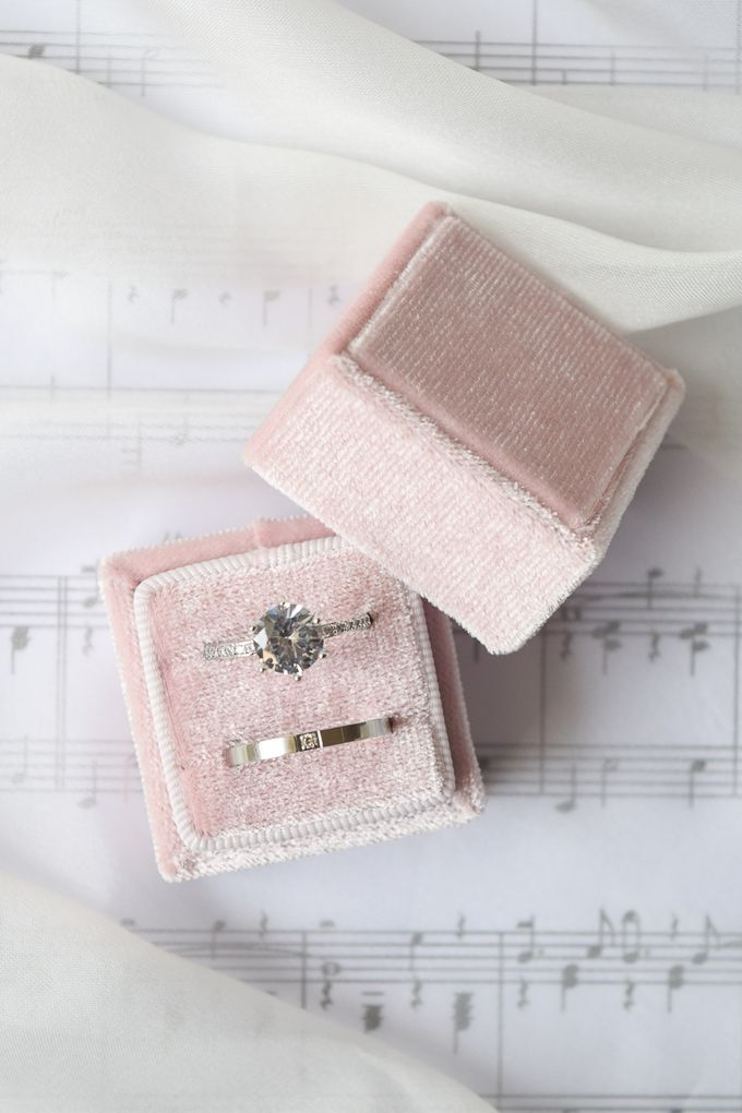 Basic Wedding Ring Box by L'AMORE - 002
