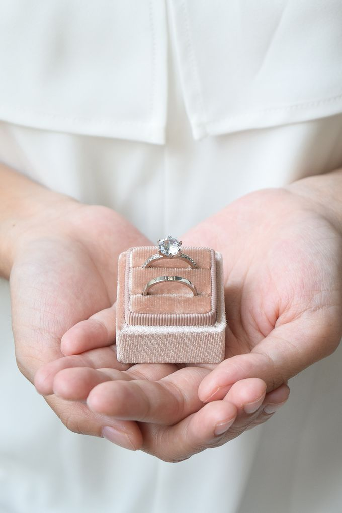 Basic Wedding Ring Box by L'AMORE - 008