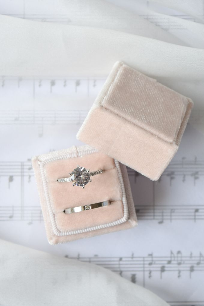 Basic Wedding Ring Box by L'AMORE - 003