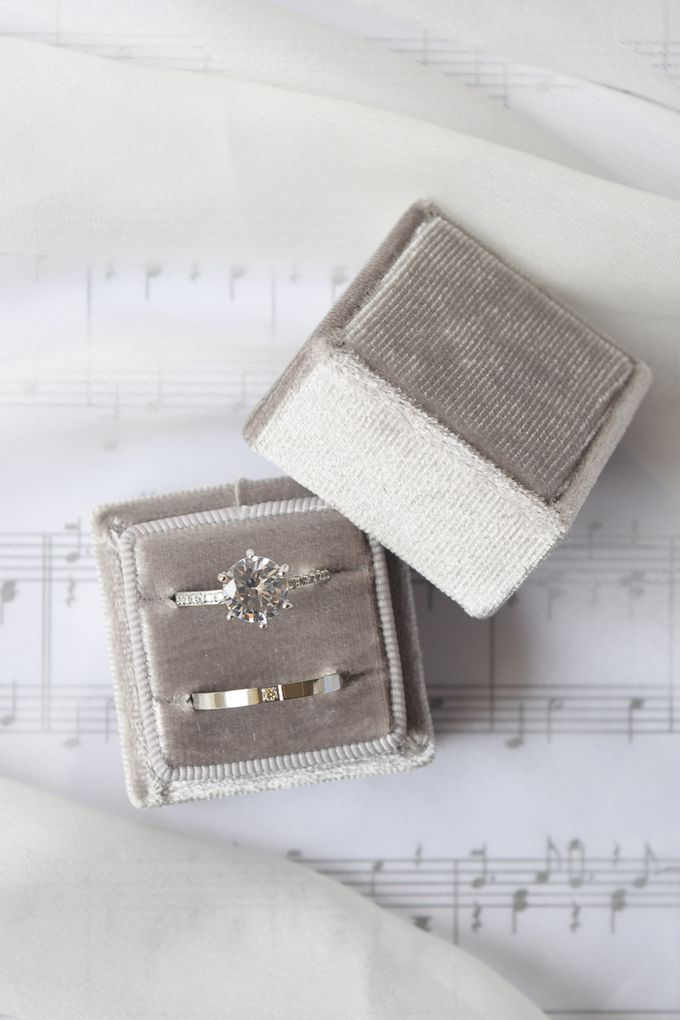 Basic Wedding Ring Box by L'AMORE - 001