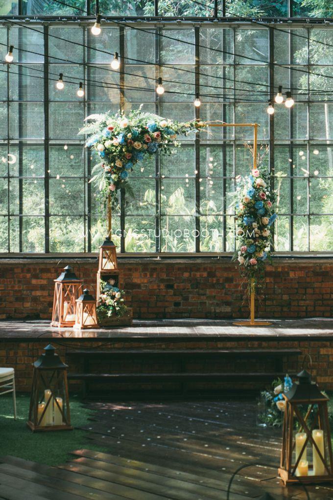Glasshouse Seputeh Babyblue Wedding - Marcus & Annie by Glitz&Glam Studiobooth - 002