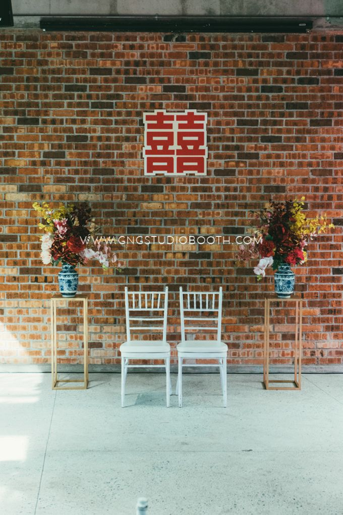 Glasshouse Seputeh Babyblue Wedding - Marcus & Annie by Glitz&Glam Studiobooth - 006