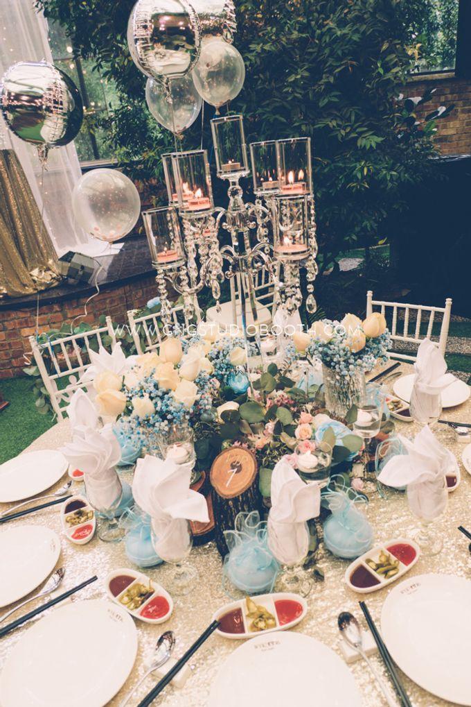 Glasshouse Seputeh Babyblue Wedding - Marcus & Annie by Glitz&Glam Studiobooth - 017