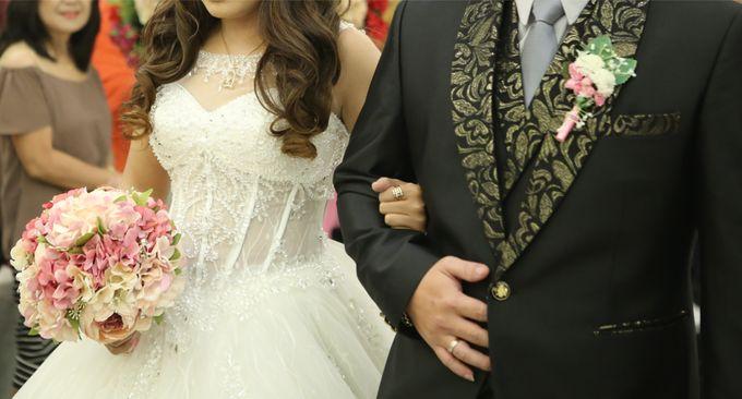 Artificial Wedding Hand bouquet - Pink Peony by raia_fleurs - 004