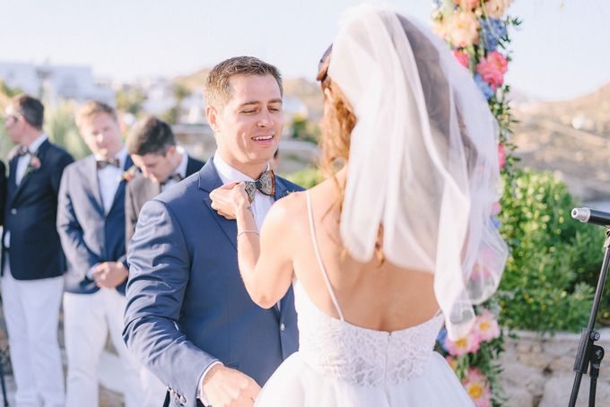An amazing wedding in Mykonos by Elias Kordelakos - 026