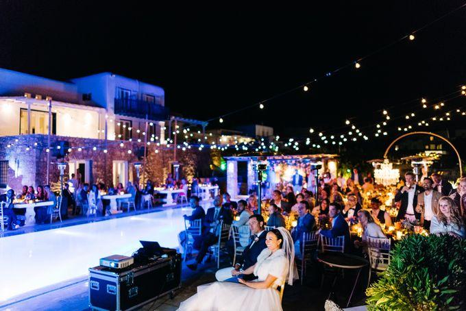 An amazing wedding in Mykonos by Elias Kordelakos - 003