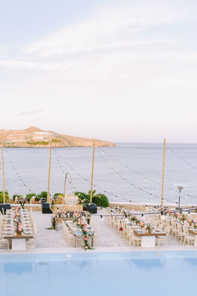 An amazing wedding in Mykonos by Elias Kordelakos - 043