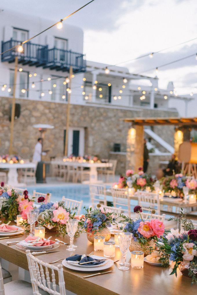 An amazing wedding in Mykonos by Elias Kordelakos - 046