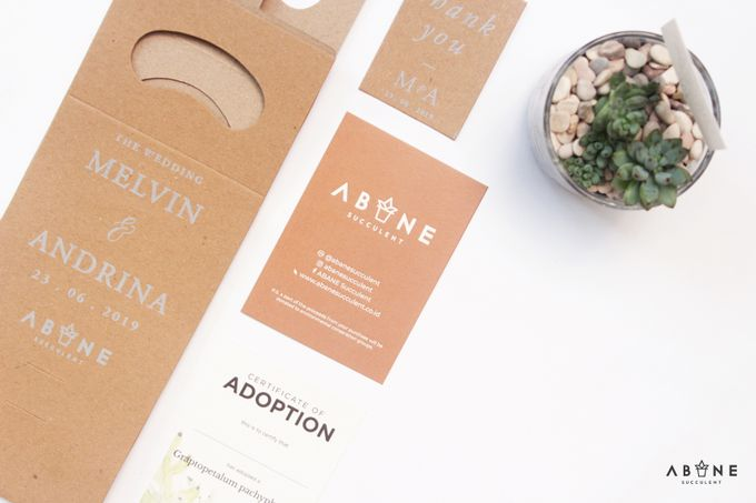 Wedding Souvenir for Melvin and Andrina by ABANE Succulent - 003
