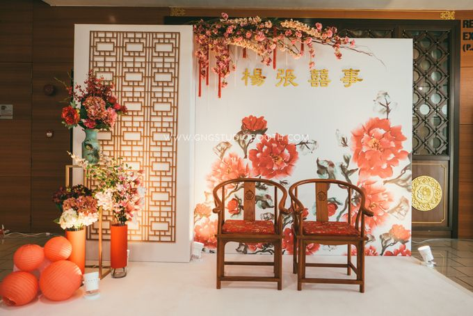 Chinese Oriental Wedding Decoration Joshua & Li Theng by