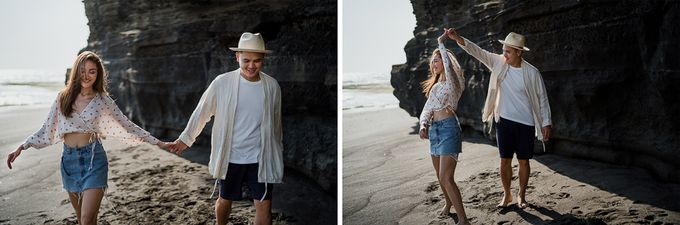 Black sand beach and cliff bali by Maxtu Photography - 003