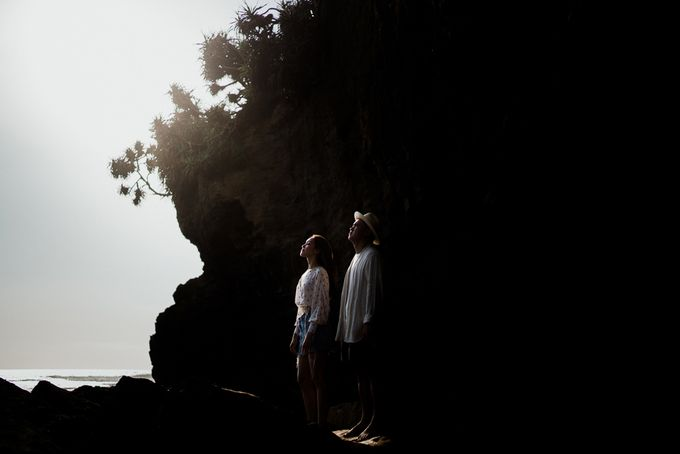 Black sand beach and cliff bali by Maxtu Photography - 024