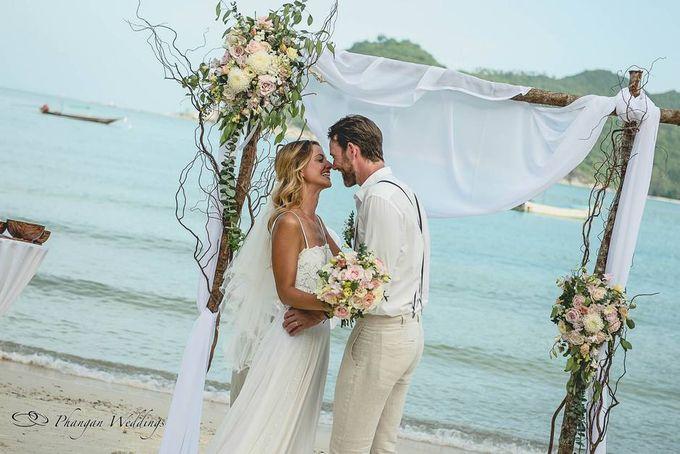 Koh Phangan Beach Wedding Laura and Andy by Phangan Weddings ...