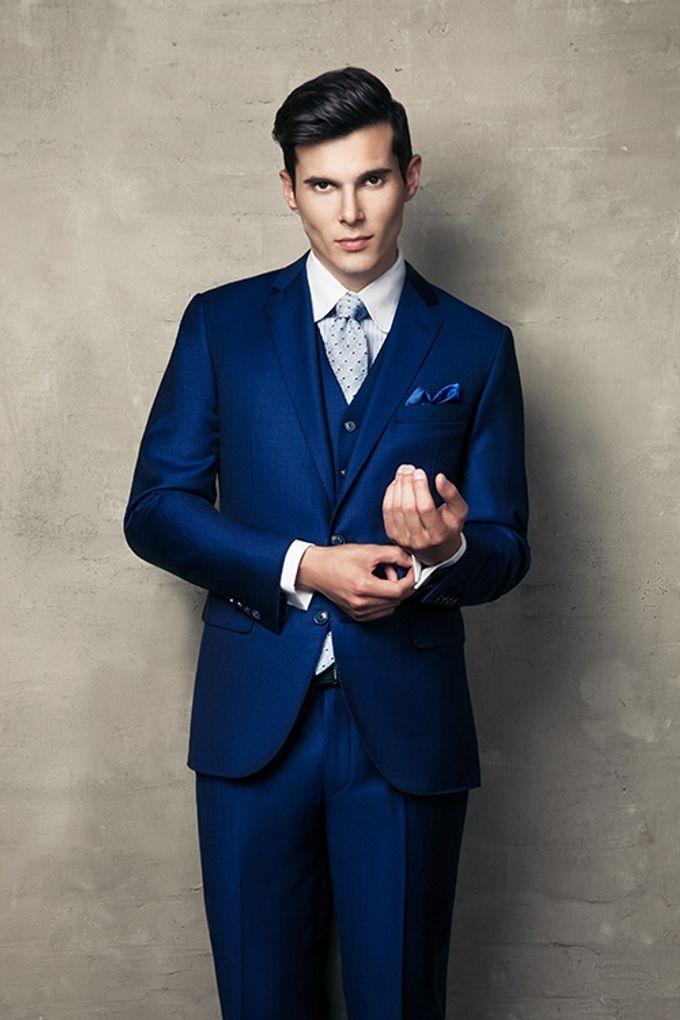 A BESPOKE ROYAL BLUE WEDDING SUIT by The Bespoke Club | Bridestory.com