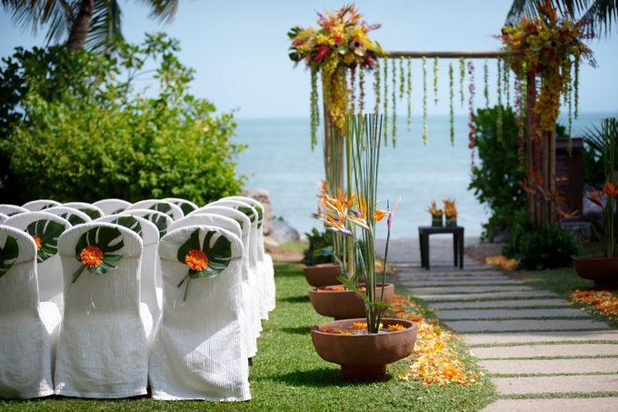 Wedding by the Beach by Shangri-La Rasa Sayang Resort - 002