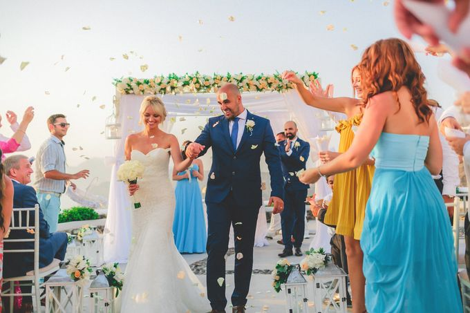 An elegant off white and peach wedding by MarrymeinGreece - 029