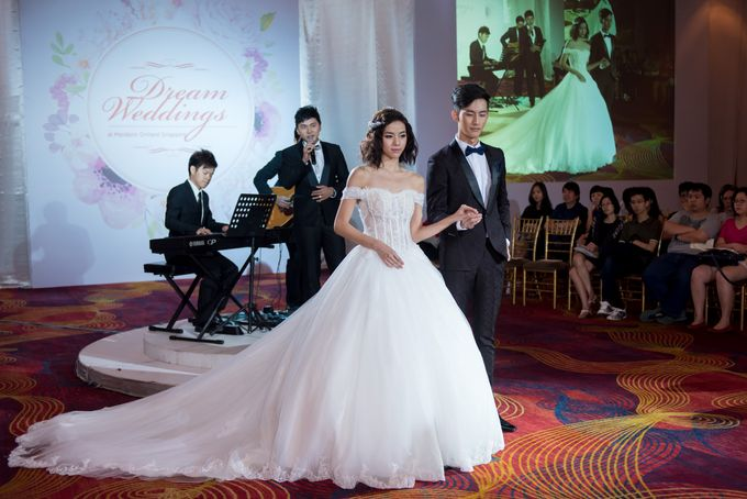 Bridal Gown Fashion Show At Mandarin Orchard Singapore by La Belle Couture Weddings Pte Ltd - 032