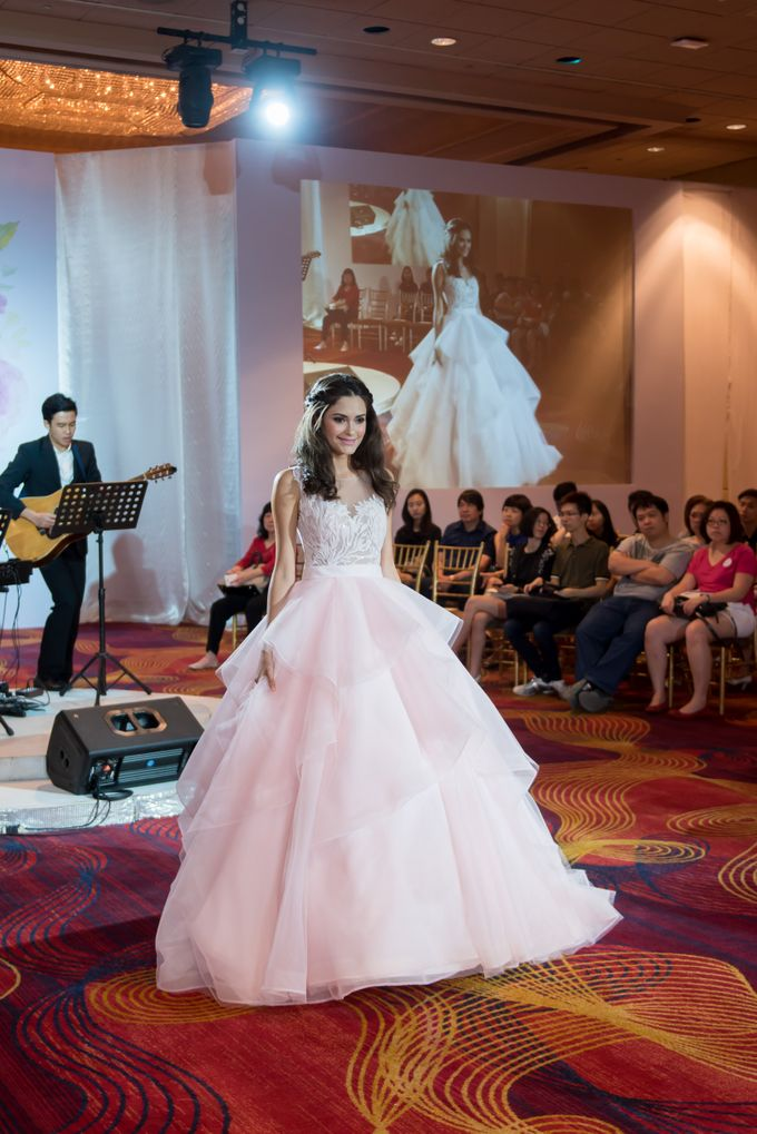 Bridal Gown Fashion Show At Mandarin Orchard Singapore by La Belle Couture Weddings Pte Ltd - 034