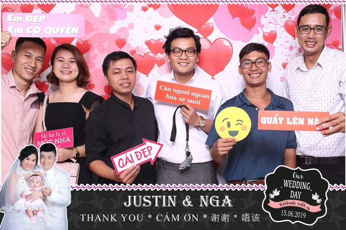 Nga & Justin Wedding by Printaphy Photobooth Ho Chi Minh Sai Gon Vietnam by Printaphy Photobooth Vietnam - 001