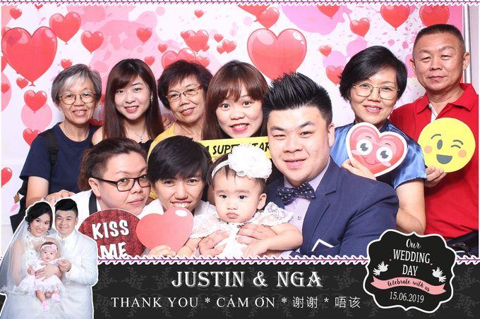 Nga & Justin Wedding by Printaphy Photobooth Ho Chi Minh Sai Gon Vietnam by Printaphy Photobooth Vietnam - 002