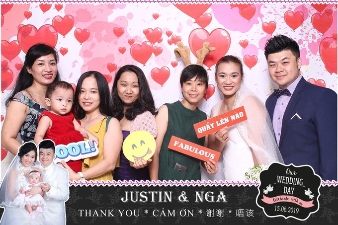 Nga & Justin Wedding by Printaphy Photobooth Ho Chi Minh Sai Gon Vietnam by Printaphy Photobooth Vietnam - 003